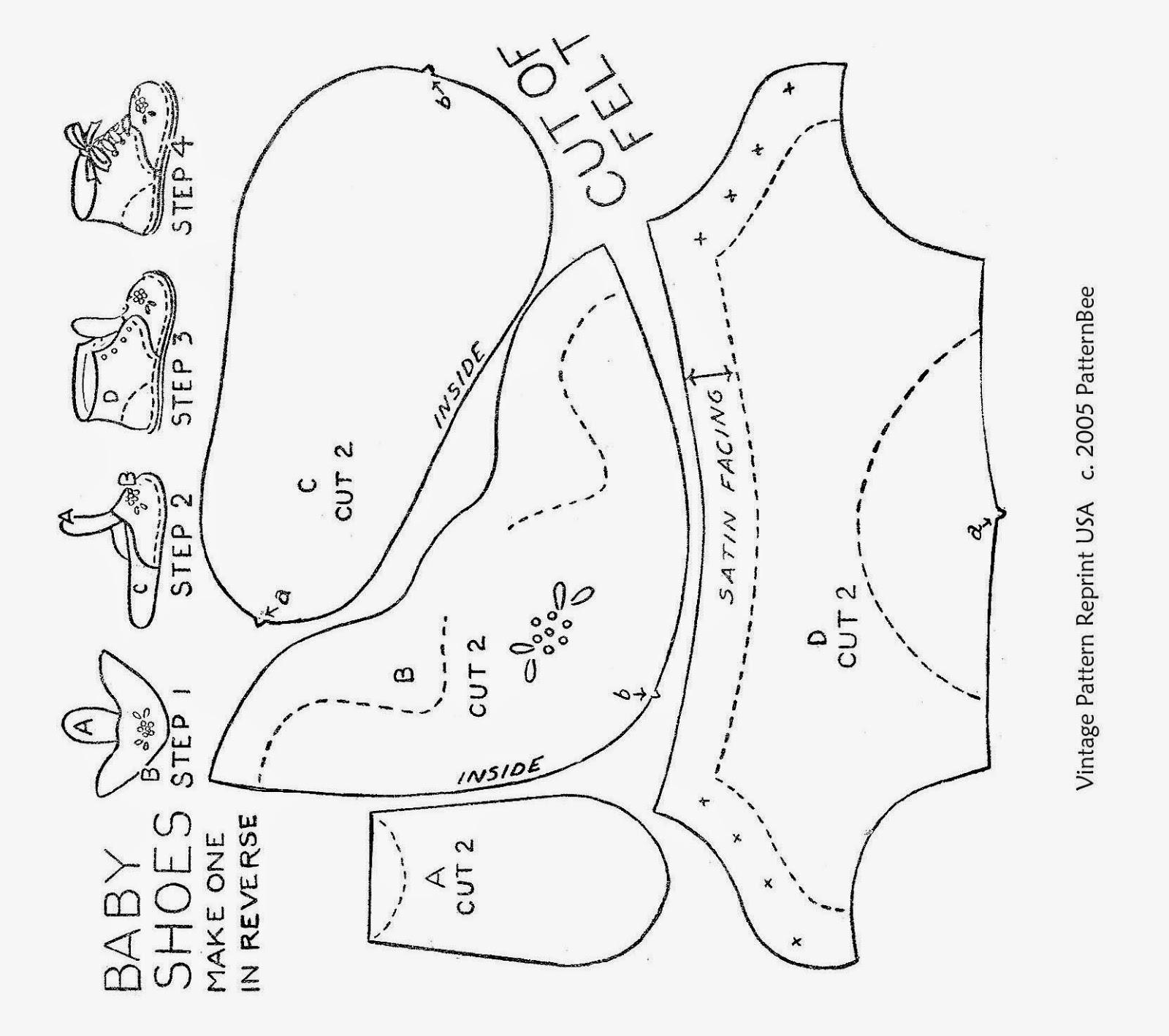 Обувь из фетра выкройки для малышей