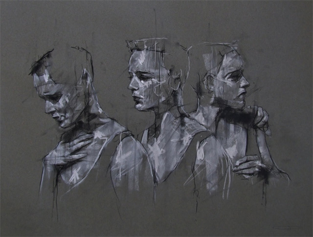 Artists Paintings Of Woman Cracked Face