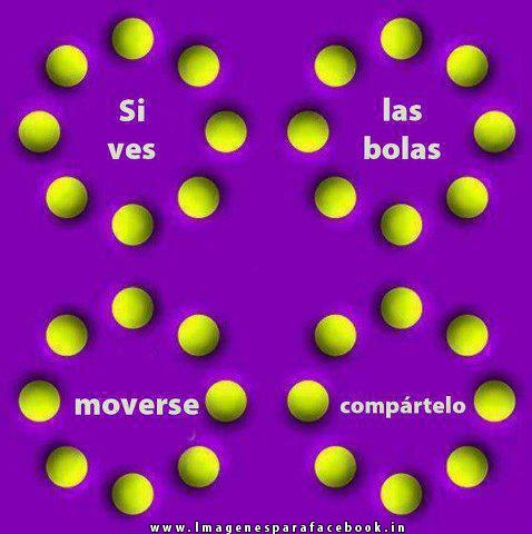 Si ves las bolas moverse compártelo