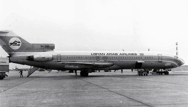 Boeing 727 da companhia Libyan Arab Airline