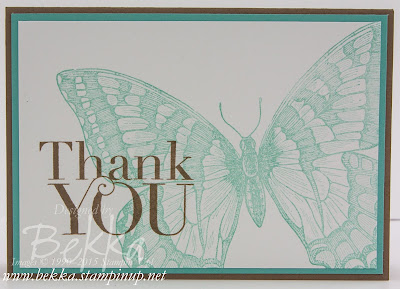 Make in a Moment Swallowtail Thank You Card