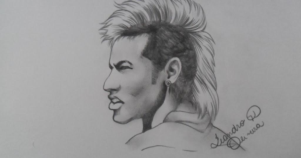 Desenhando Neymar na Copa do Brasil 2014