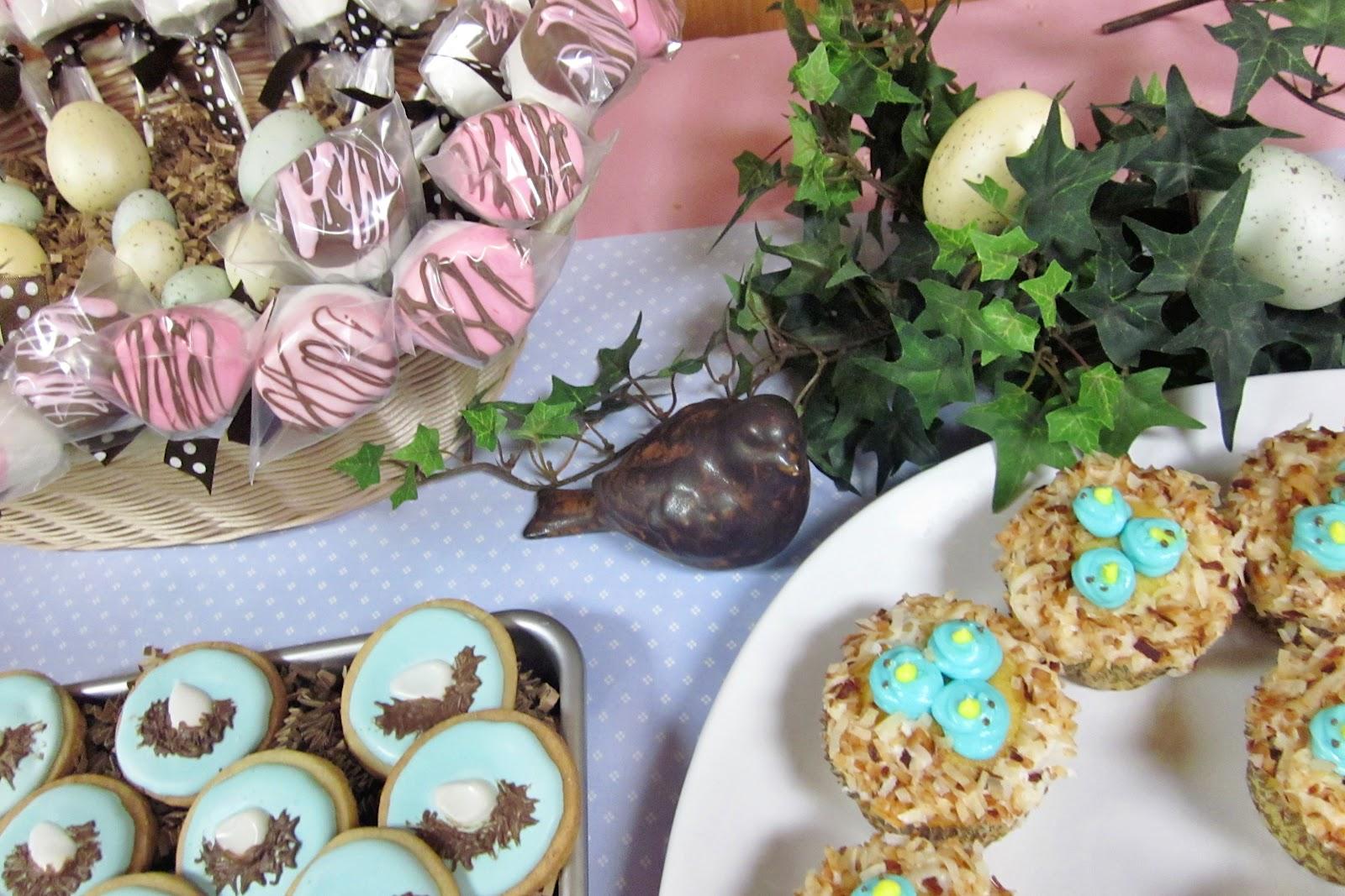 diddles and dumplings bird baby shower desserts