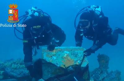 Ναυάγιο ρωμαϊκού πλοίου βρέθηκε στα ανοικτά των ακτών της Σαρδηνίας