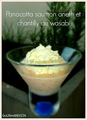 image Panacotta au samon-aneth et chantilly au wasabi