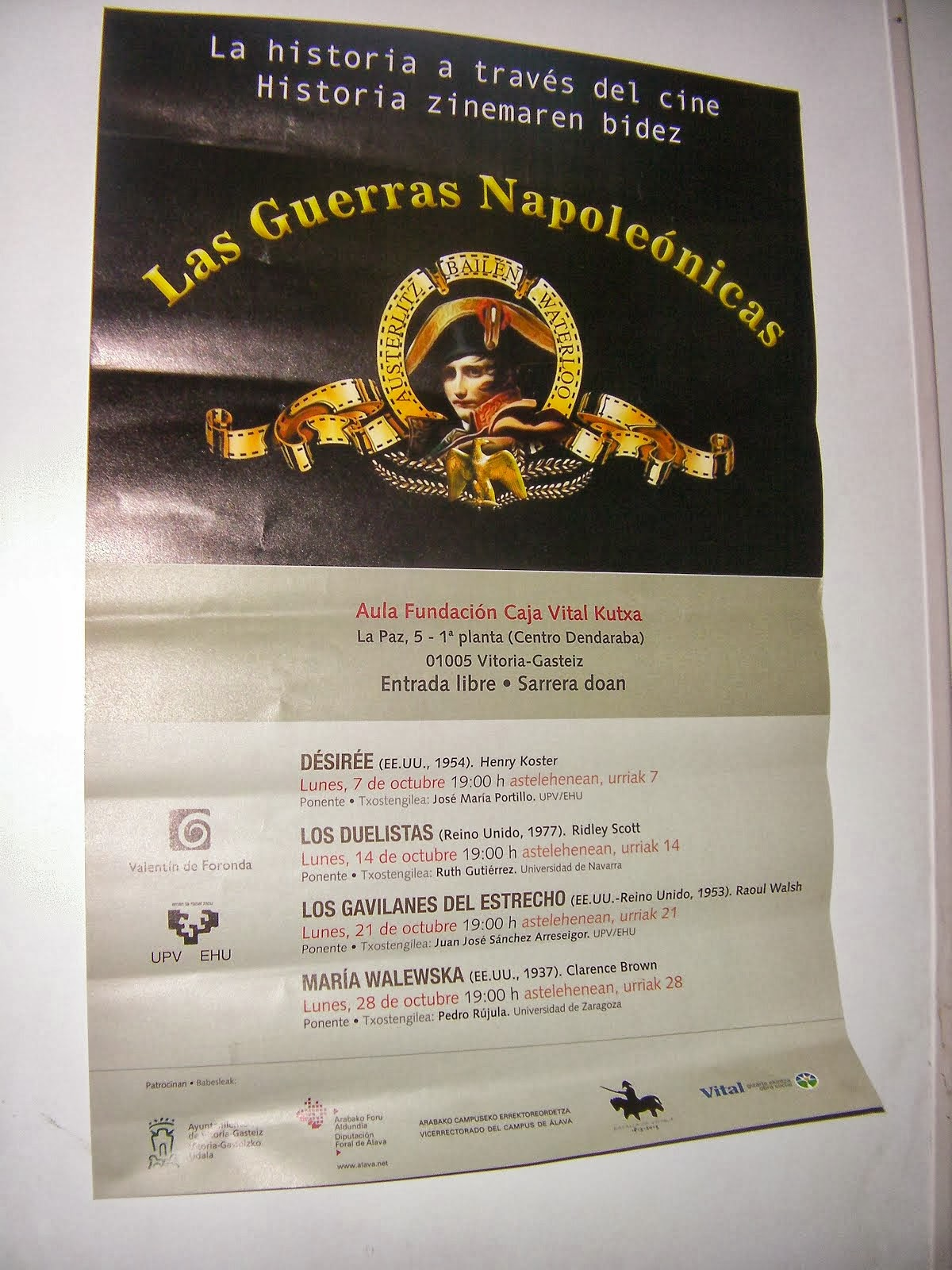 CINE: LAS GUERRAS NAPOLEÓNICAS EN PAZ, 1