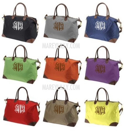 Monogrammed Champ Pink Weekend Travel Bag