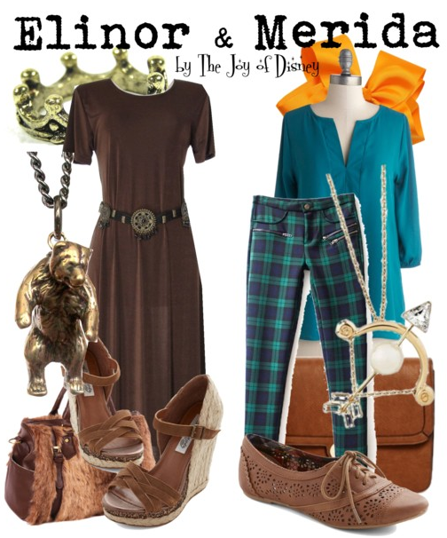 Elinor and Merida, Disney Brave Inspired Outfits