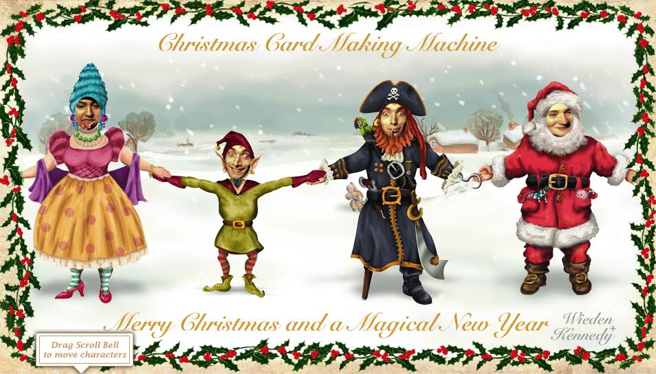 Vánoční přání - animace