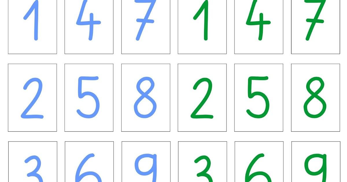 Zahlenkarten 1 20