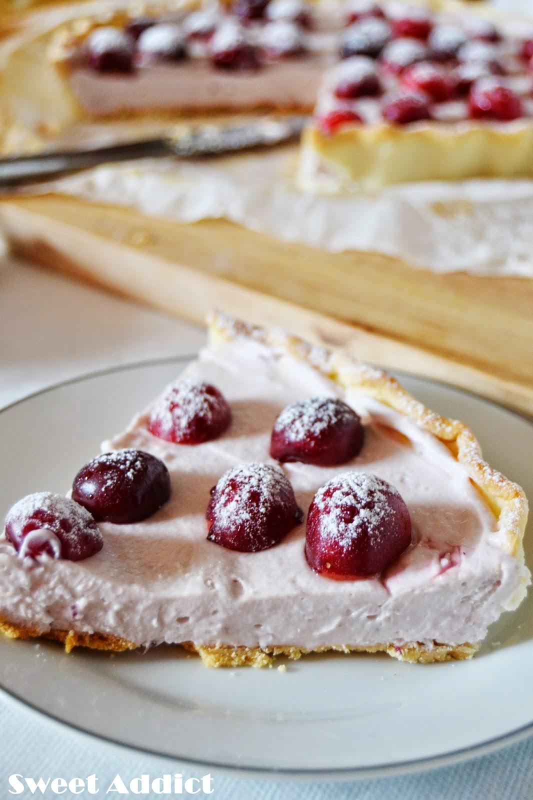 tarta de mascarpone y cerezas