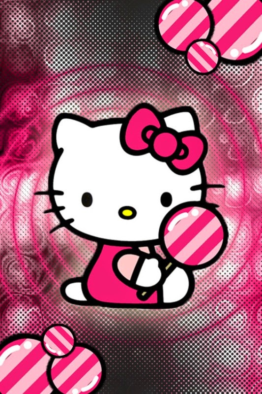 Wallpaper android hello kitty pink gratis