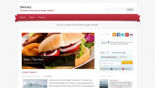 Download Delicacy Blogger Template