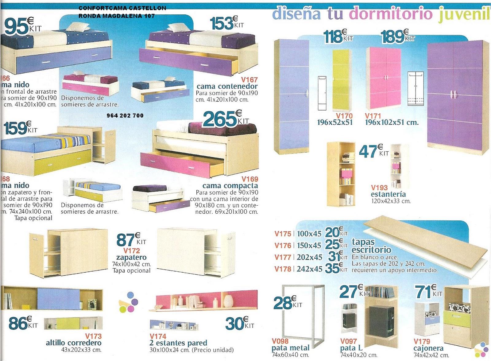 Muebles oferta kit dise a tu propio dormitorio juvenil for Ofertas de dormitorios juveniles
