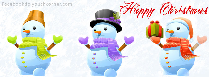 Christmas fb cover with snow