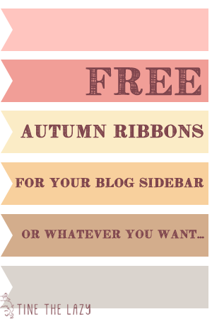 Free autumn ribbons for your blog sidebar or whatever you want