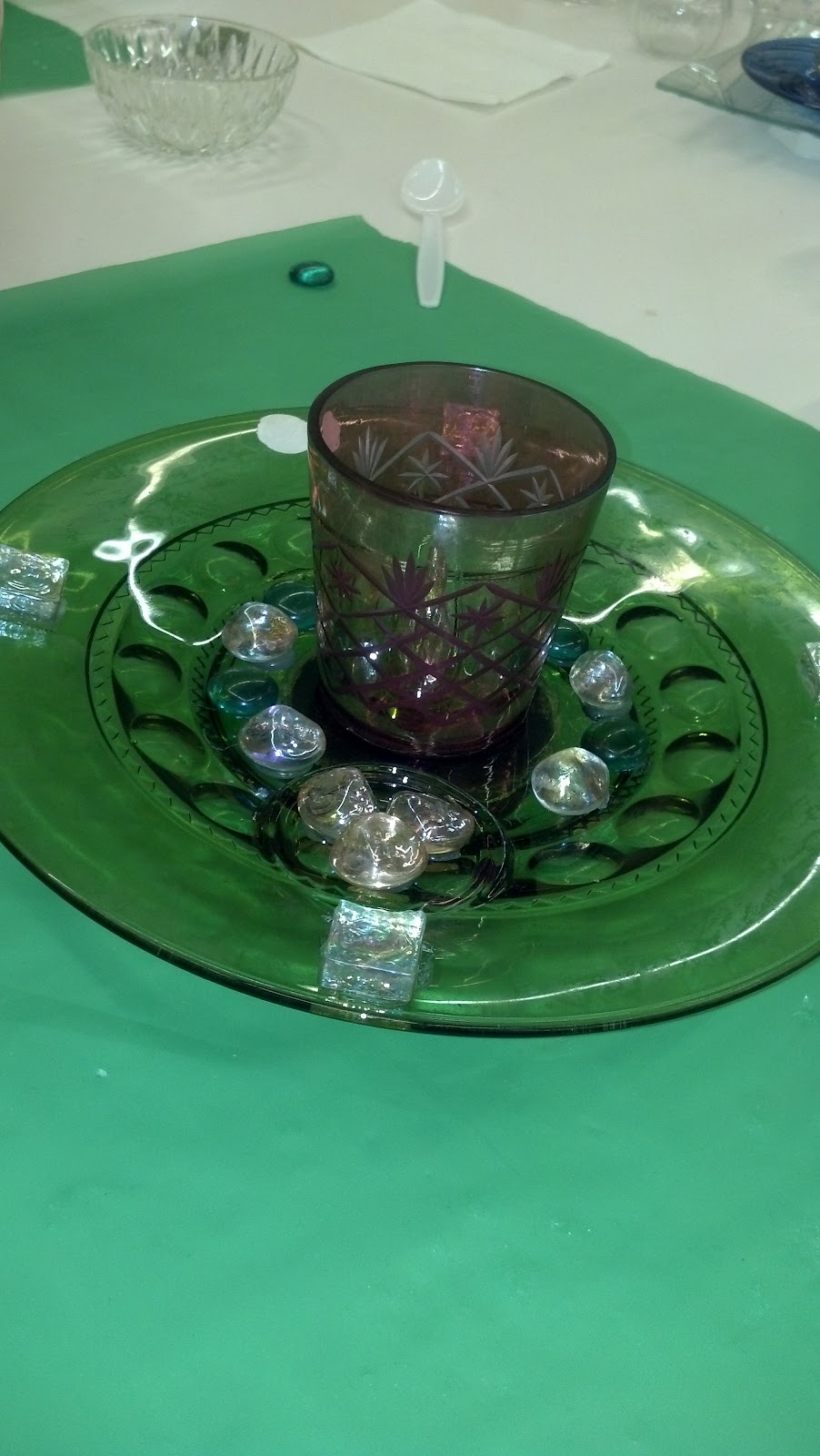 Flat glass ornaments - We Glued Glass Plates Bowls Flat Marbles With Loctite Clear Silicone Waterproof Sealant