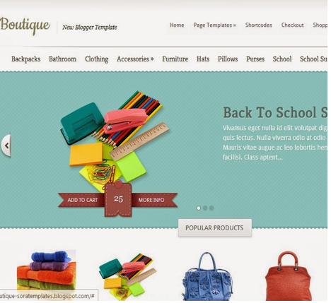 Boutique Blogger Template