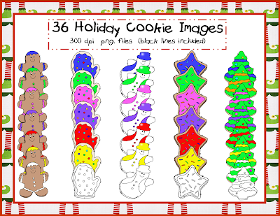 http://www.teacherspayteachers.com/Product/Holiday-Cookies-Clip-Art-1013443