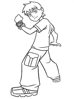 Download Ben 10 Cartoon Kids Coloring Pages