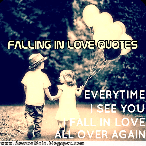 I saw you falling in love quotes