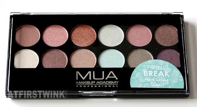 Review: MUA (makeup academy) eyeshadow palette - Spring Break