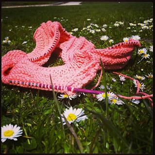 tricoter dans les fleurs