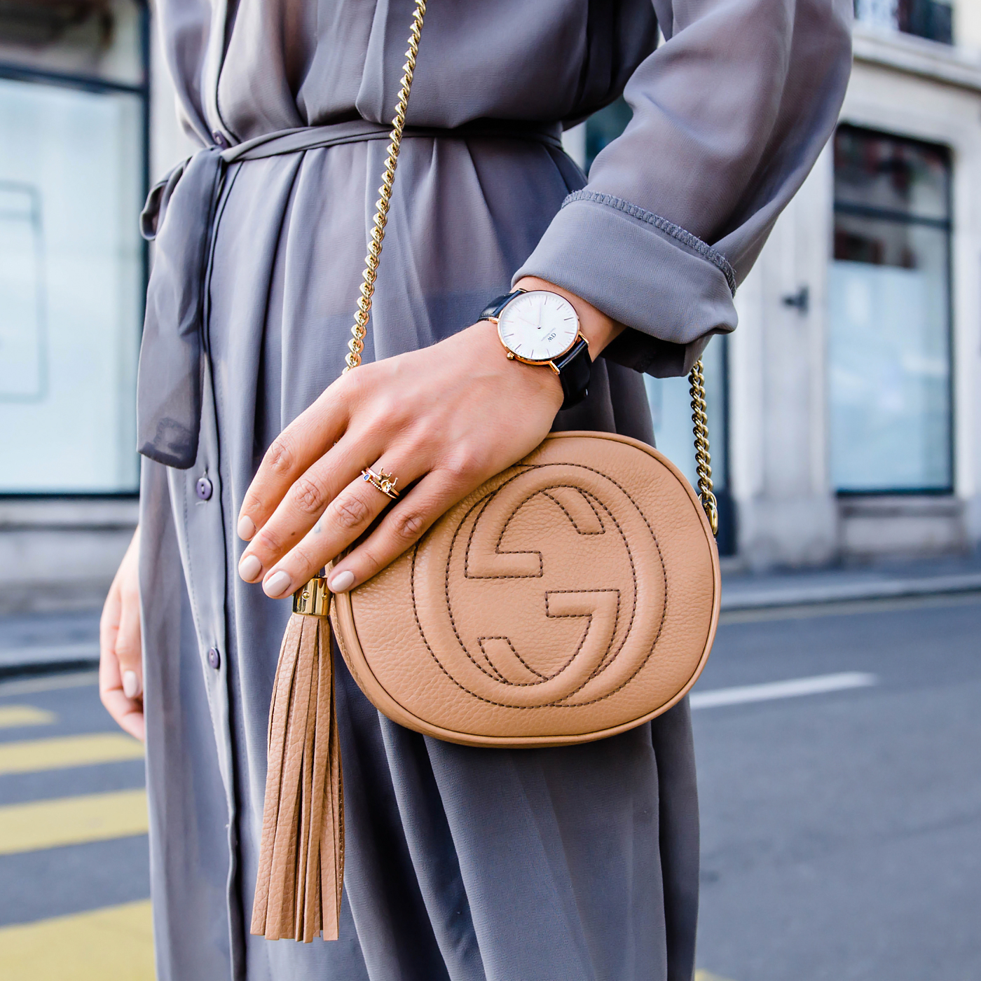 alison liaudat, blog mode suisse, swiss fashion blogger, Fashion blog from Switzerland, vitstyle, gucci soho leather, karen walker eyewear, daniel wellington, animas code, Astrid and miyu, FIVE Jeans, shopbop,