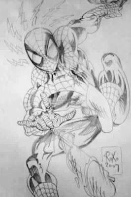 O Homem-aranha, ilustração - D3s3nh4nd0