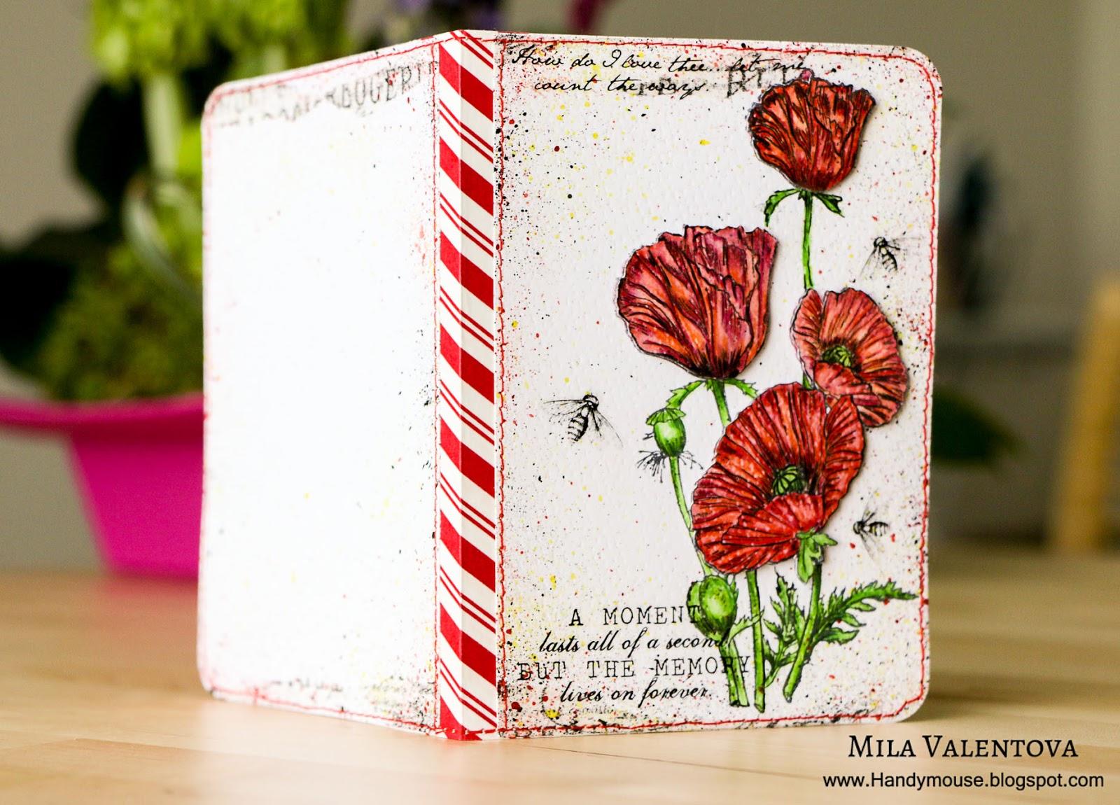 """Обложка для паспорта"""" Огненные маки"""" Мила Валентова."""