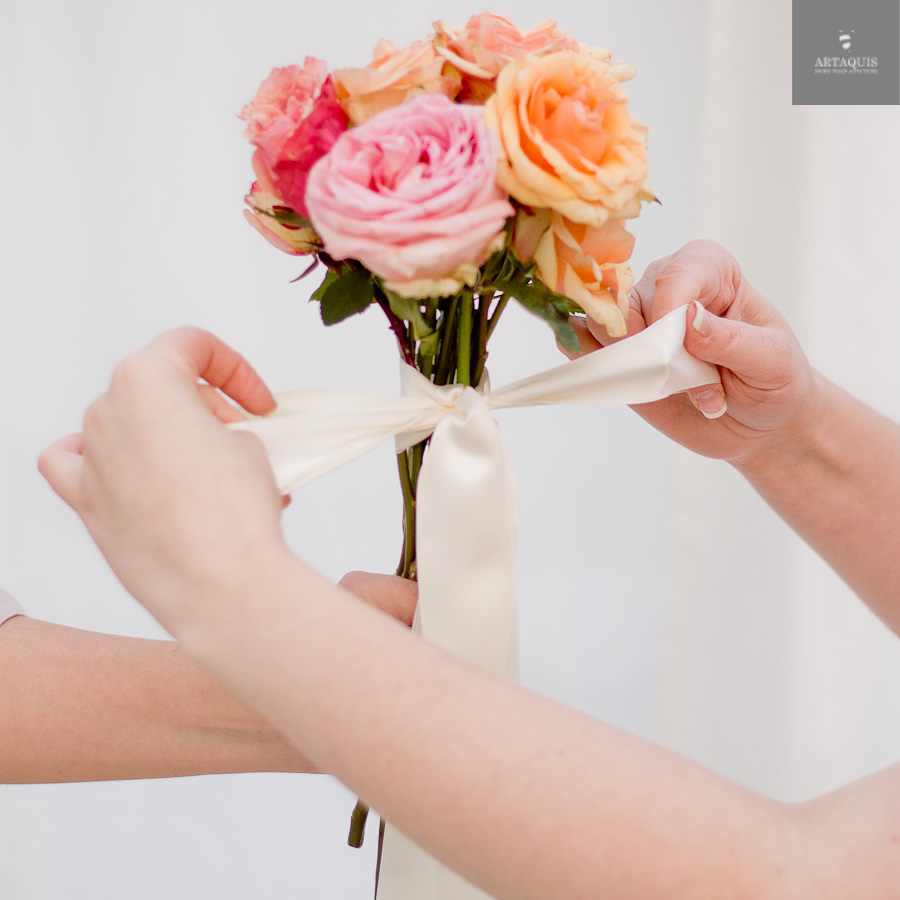 A DIY bouquet tutorial with fourseasons dekoration - 21