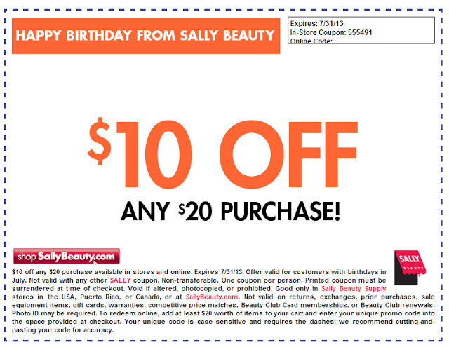 The Do It Yourself Lady Sallys Beauty Supply July Coupon