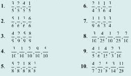 Soal Matematika SD Kelas 6 - Bilangan Pecahan