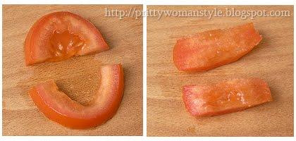 карвинг кравичка от домат