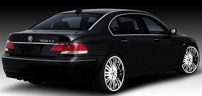back side view of BMW 740i