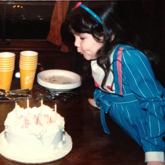 Jamie Allison Sanders, birthday, 1988, 1980s, cake, blowing out candles