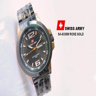 jam tangan keren SWISS ARMY SA-6335M ROSE GOLD