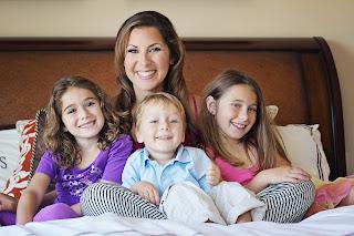 Stephanie Dreyer, aka VeegMama, with her three children
