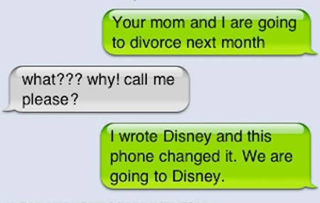 Funny Picture Text Message Forwards on Dr  Heckle  Your Mom And I Are Going To Divorce Next Month