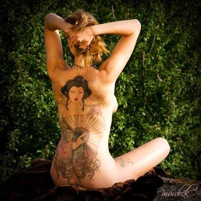 Tattoo oriental gueixa sexy