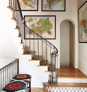 Mapas en paredes