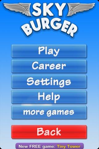 Sky Burger Free App Game By NimbleBit