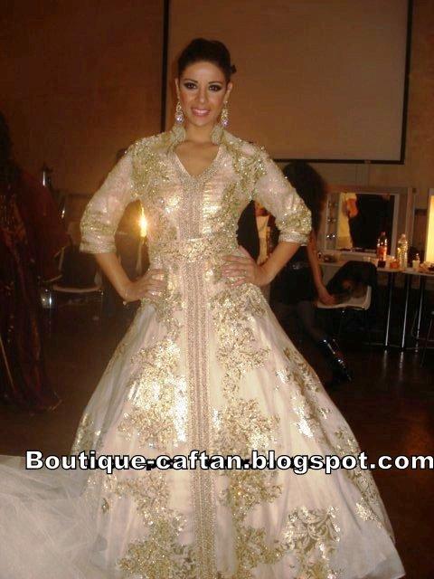 Salon Marocain Blanc Et Dore
