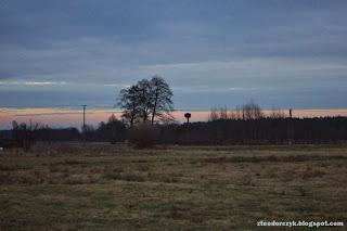 pole, wieś, mazowsze, polska, zachód słońca