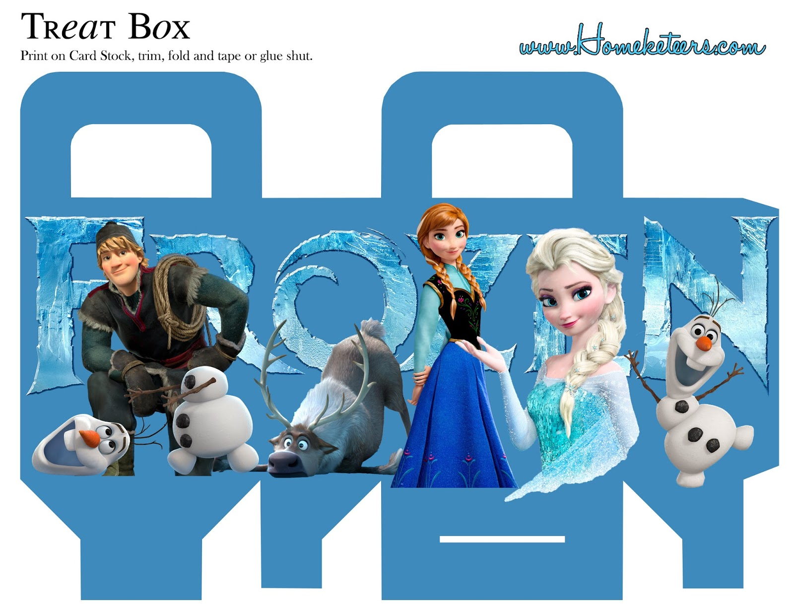 Frozen Free Printable Boxes Is It For PARTIES