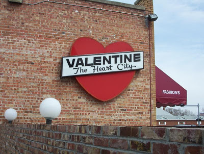 Valentine Nebraska sign The Heart City