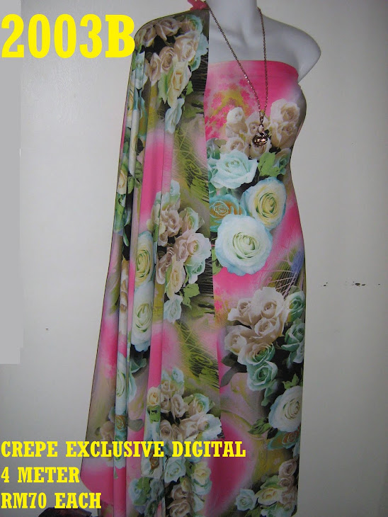 CP 2003B: CREPE EXCLUSIVE DIGITAL PRINTED, 4 METER