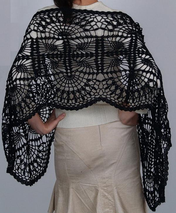 free crochet lace wrap pattern