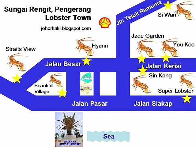 Sungai Rengit Pengerang Johor Map