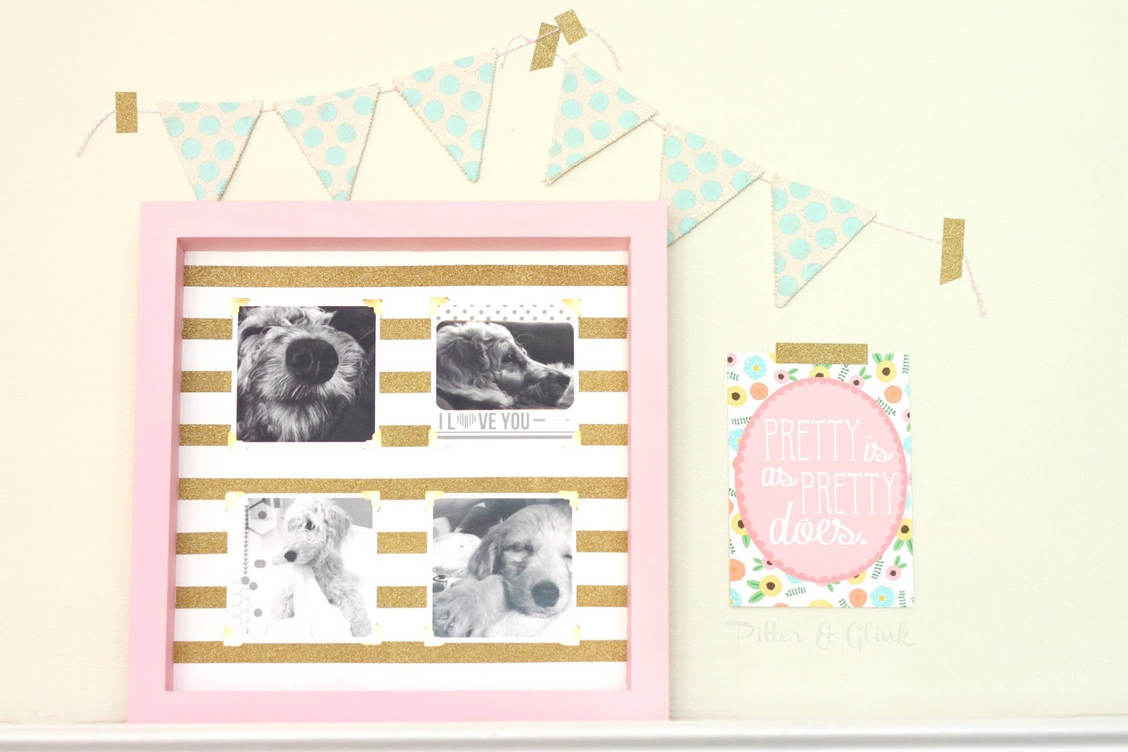 DIY Interchangeable Instagram Photo Frame pitterandglink.com